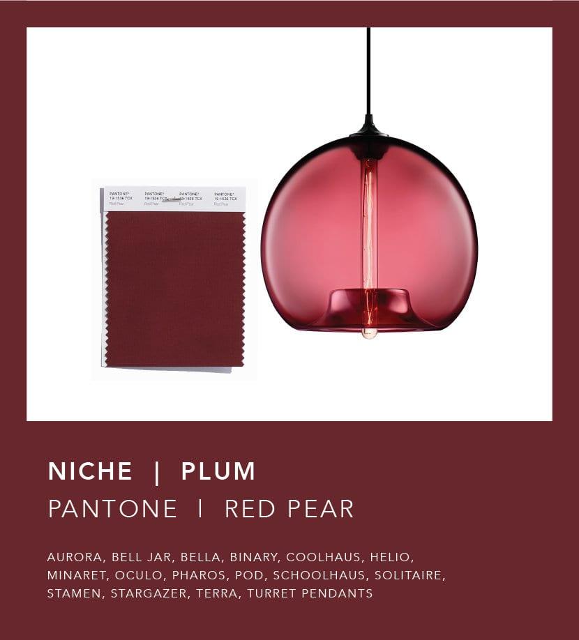 Le tendenze colori inverno 2018 riflesse nei vetri delle lampade Niche