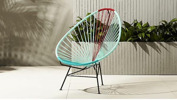 La sedia acapulco porta brio tra gli arredi per esterno
