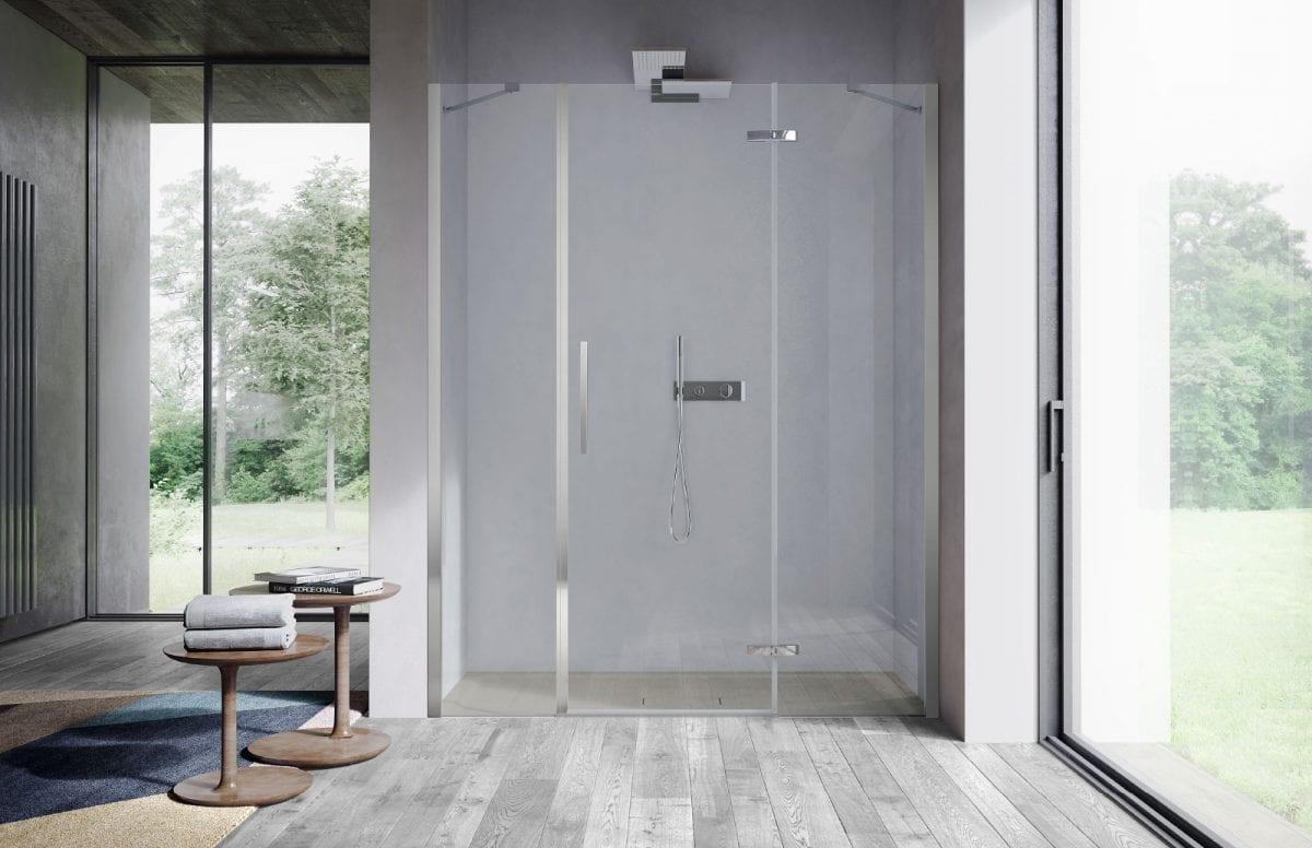 Un box invisibile per una doccia di design