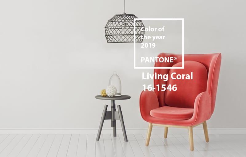 A proposito di Living Coral: i nostri consigli per arredare con il colore Pantone 2019