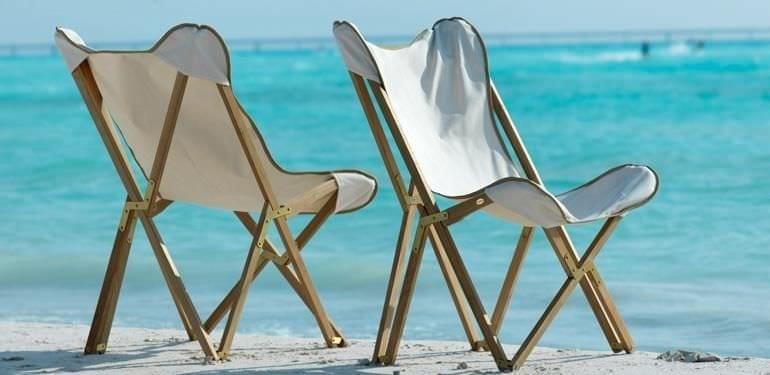 La sedia tripolina è tra i classici degli arredi per esterno