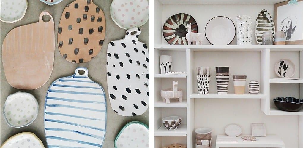 Utilizzate la ceramica artigianale e il marmo per un look raw